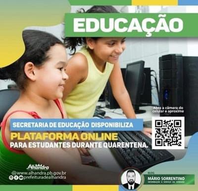 Secretaria de Educação de Alhandra cria blog com atividades para os alunos da rede municipal