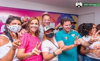 Ana Claudia, Sargento Wellington e Veneziano votam pela manhã neste domingo, em Campina Grande