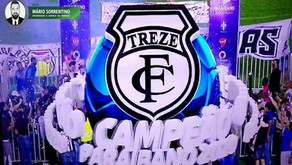 Treze é campeão estadual 2020 e volta ao topo do futebol paraibano