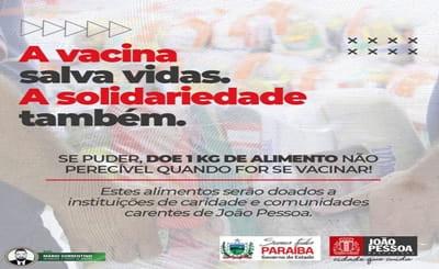 Prefeitura de João Pessoa e Governo da Paraíba se unem em campanha para doação de alimentos