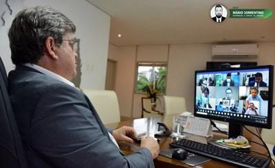 João Azevêdo discute distribuição de vacinas e medicamentos em reunião com governadores e ministr...