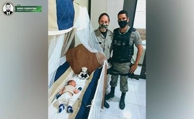 Polícia Militar salva recém-nascido de apenas oito dias de vida