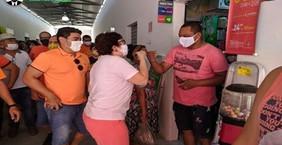 Márcia Lucena inicia campanha visitando feira livre de Conde e realiza ação em Jacumã