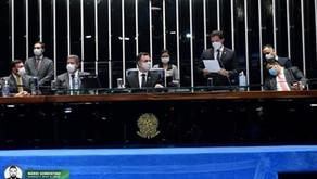 Vice-presidente do Senado, Veneziano participa da promulgação da PEC Emergencial e cobra celerida...
