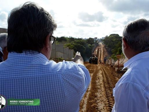 Governador João Azevêdo inspeciona obras de mobilidade urbana na Zona Sul de João Pessoa