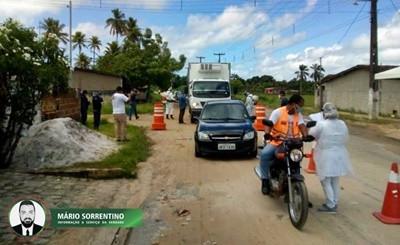Prefeitura de Alhandra inicia barreira sanitária e amplia a fiscalização do comércio e organizaç...