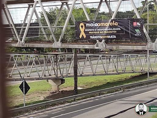 Cícero Lucena abre simbolicamente campanha do Maio Amarelo em ação no Largo de Tambaú