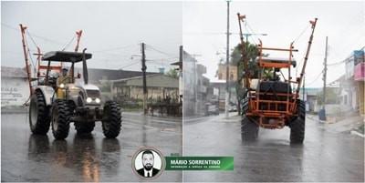 Covid-19: Prefeitura realiza desinfecção de ruas e espaços públicos em Alhandra e Mata Redonda