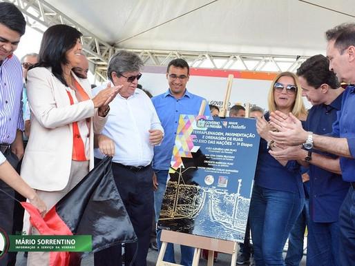 Aniversário de CG: João Azevêdo entrega obras de pavimentação e 1ª etapa do Eixo das Nações