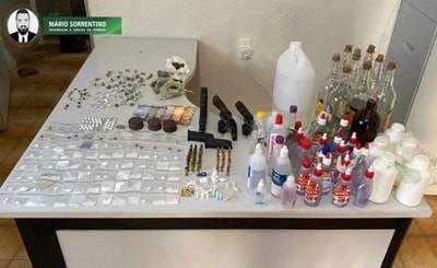 Polícia Militar acaba com festa no Conde, prende três suspeitos e apreende armas e drogas