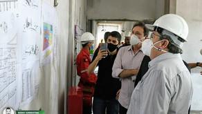 João Azevêdo visita obras do Hospital Infantil de Santa Rita