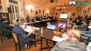 João Azevêdo recebe ministro da Educação, pleiteia investimentos e apresenta ações exitosas da Ed...