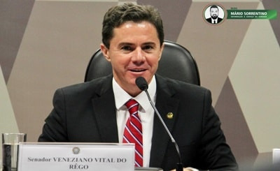 Líder do bloco Senado Independente, Veneziano Vital assume também a Liderança do PSB no Senado