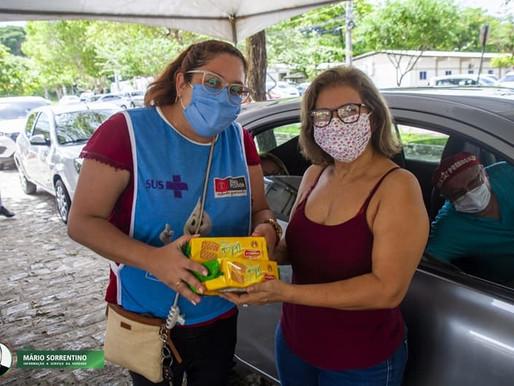 Campanha da Prefeitura de JP nos postos de vacina arrecada mais de seis toneladas de alimentos