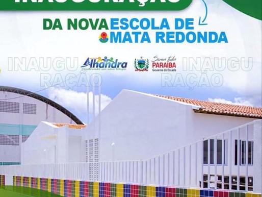 Prefeitura de Alhandra convida a toda população para inauguração da nova escola de Mata Redonda