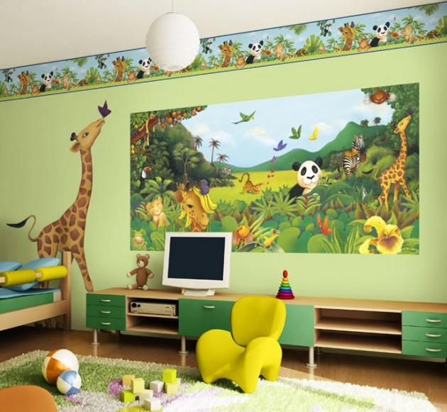 Green Color Kids Bedroom