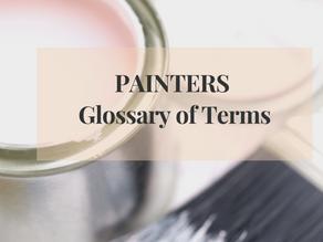 Understanding  Painters Terminologies