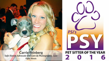 OUR VERY OWN named Pet Sitters International's Pet Sitter of the Year!