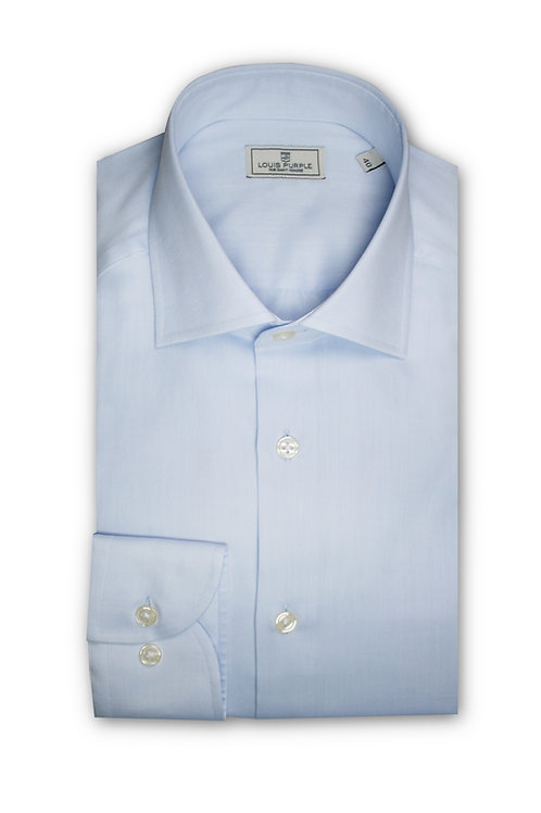 Pale Blue Twill Business Shirt