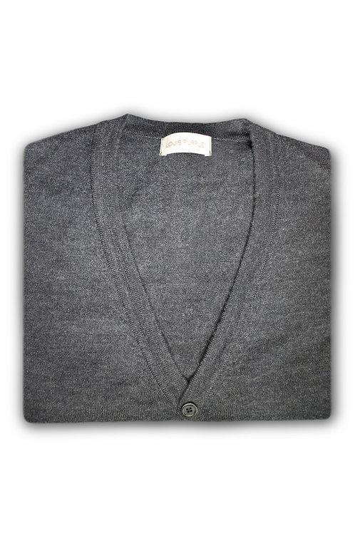 Dark Grey Merino Cardigan