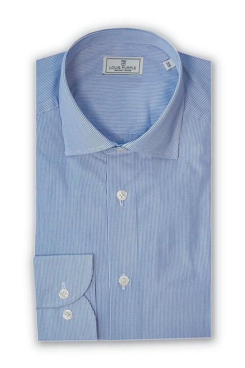 Blue/White Micro Stripes Business Shirt