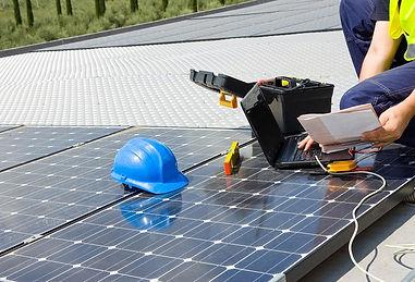 instação de placas fotovoltaicas