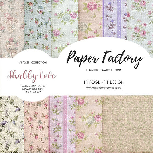 Mini scrap paper - Shabby Love - 15,5x15,5cm - 11 fogli/11 design