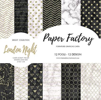 "Pad ""London Night"" Bright coll. 31x31cm - 12 fogli/12 design"