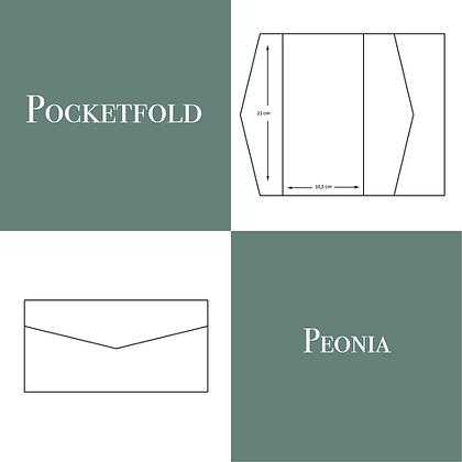 Pocketfold modello Peonia 50 pz.