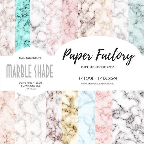 "Pad ""Marble Shade"" Basic collection 31x31cm - 17 fogli/17 design one side"