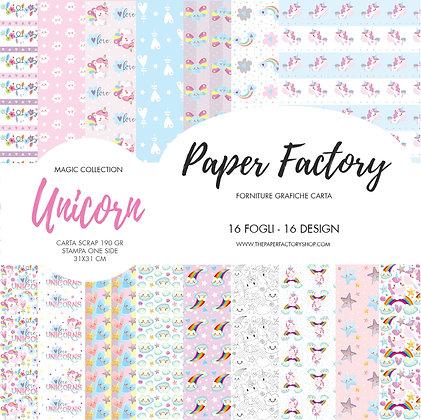 """Pad """"Unicorn"""" magic collection 31x31cm - 16 fogli/16 design one side"""