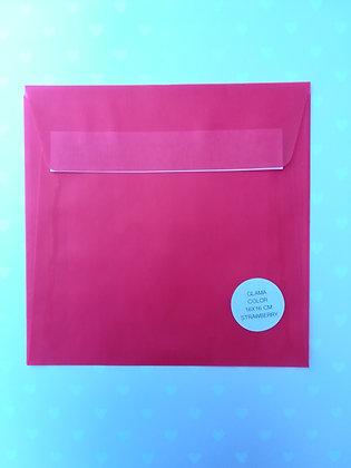 Busta 16x16 Glama color - Strawberry
