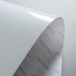 FASSON PET trasparente lucido CLEAR GLOSS - adesivo permanente per laser 32x45