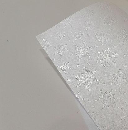 Embossed Paper - White Snowflake