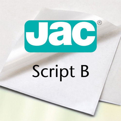 JAC Script - Carta Adesiva Bianca 50x70cm
