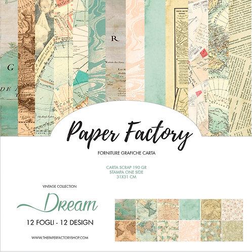 scrap paper Dream vintage collection 31x31cm - 12 fogli/12design one side