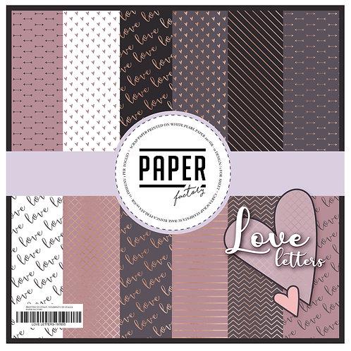 """Pad """"Love Letters"""" 12 fogli 30 x 30 cm"""