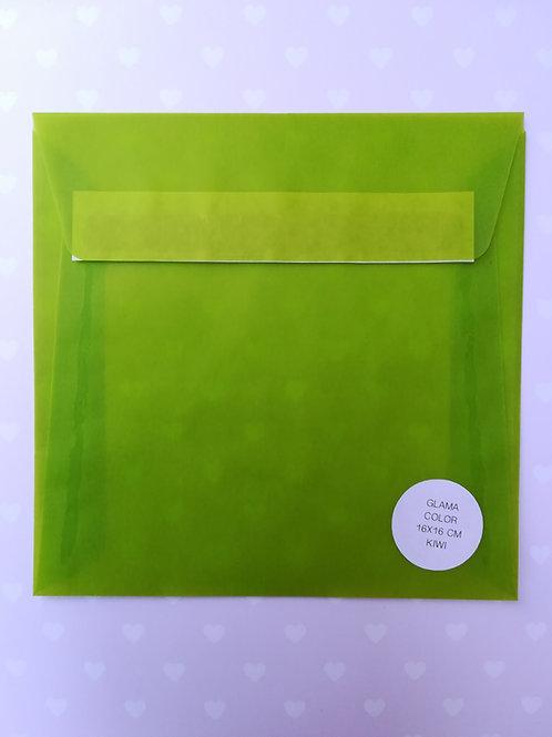 Busta 16x16 Glama color - Kiwi