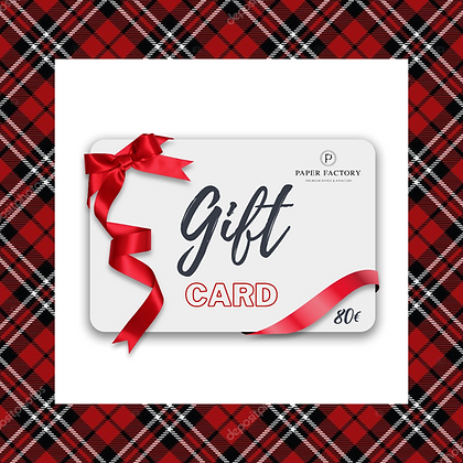 Gift Card Paper Factory 80€