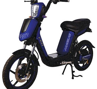 Bicicleta Scooter Elétrica Modelo SMARTY Cor Azul - Azul royal
