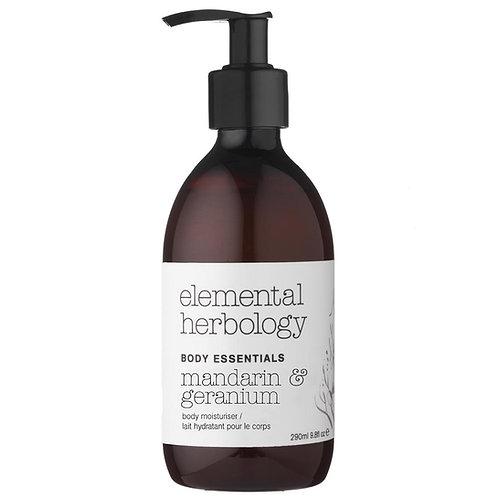 Elemental Herbology Mandarin & Geranium Hand & Body Cream, 290ml