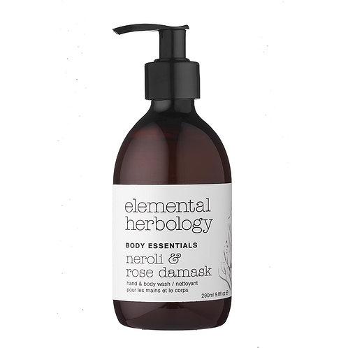 Elemental Herbology Neroli & Rose Body Wash, 290ml