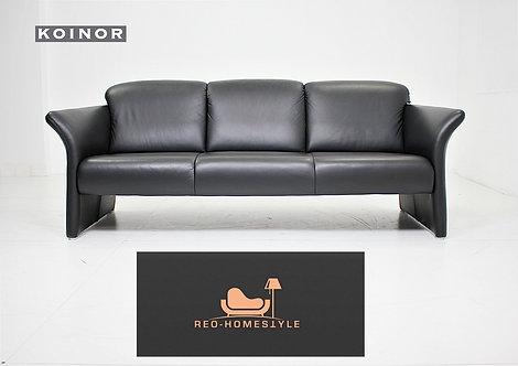 Koinor Designer Sofa Leder Dreisitzer Schwarz Couch Tara