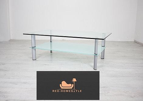 Designer Glas Tisch Beistelltisch Wohnzimmer Milchglas Sofa