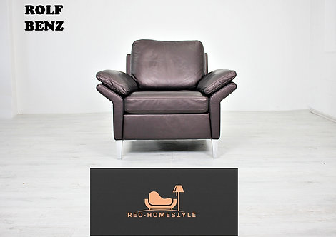 Rolf Benz Designer Sessel Sofa Coch Braun Leder Kissen Interior