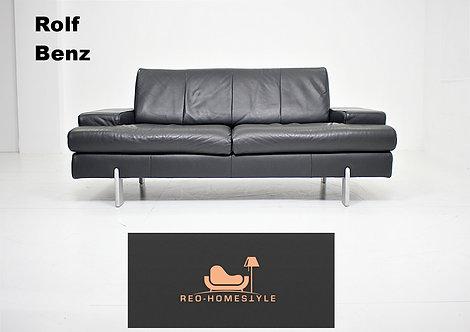 Rolf Benz Ak Designer Sofa Leder Couch Schwarz Zweisitzer Sitz