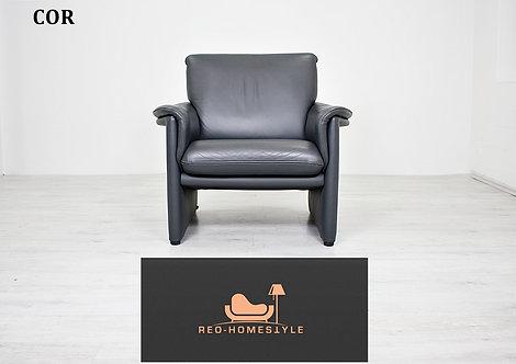 Cor Designer Sofa Anthrazit Sessel Sitzer Couch Leder Wohnzimmer