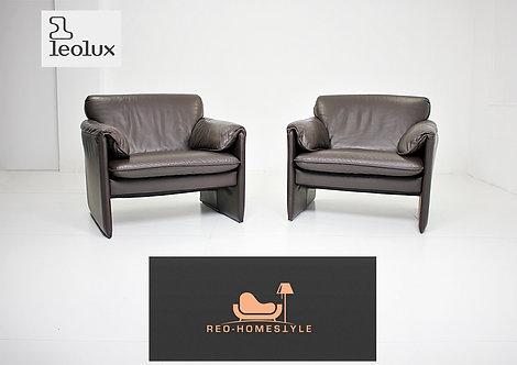 Leolux Bella Bora 2X Sessel Braun Leder Designer Sofa Couch