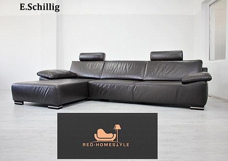 Ewald Schillig Designer Sofa Ecksofa Couch Leder Braun Funktion