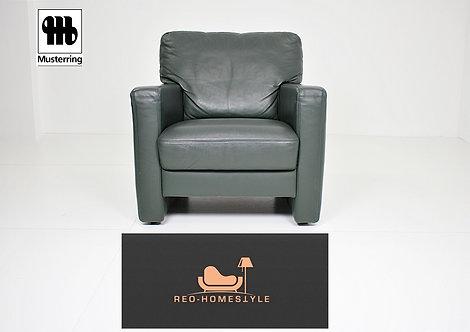 Musterring Designer Sofa Sessel Vintage Grün Leder Couch